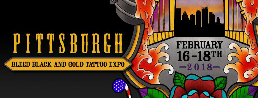 Bleed black and gold pittsburgh tattoo expo contest for Pittsburgh tattoo convention